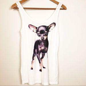 H&M Divided Chihuahua Tank Top